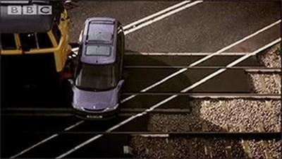 Enlace a Lo que puede pasar si dejas el coche aparcado en una vía de tren