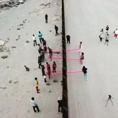 Enlace a Han instalado esto en la frontera de Mexico y Estados Unidos