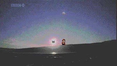 Enlace a Así sería la pantalla del sol de Mario 3 en la vida real