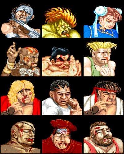 Enlace a El antes y después en los luchadores de Street Fighter II