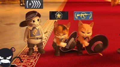 Enlace a 3 gatos jugando a CS