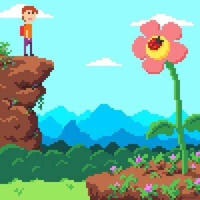 Enlace a Esta animación pixelart es simplemente una pasada
