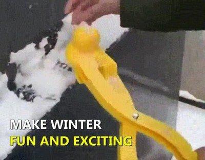 Enlace a Ojalá una guerra de bolas de nieve con forma de patito
