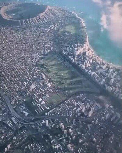 Enlace a Hawaii visto desde las alturas