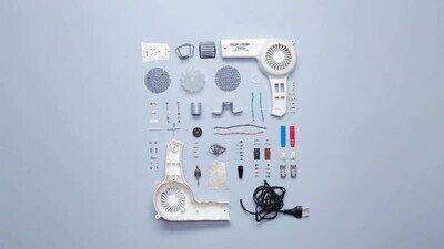 Enlace a Todas las piezas que se esconden dentro de un secador de pelo