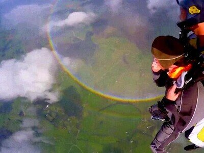 Enlace a ¿Habías visto alguna vez un arcoiris redondo?