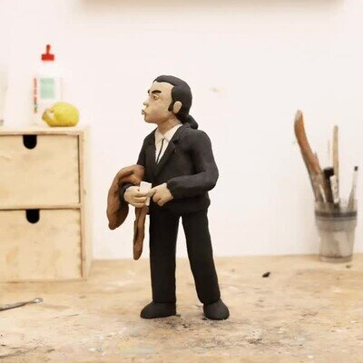 Enlace a La escena de Travolta recreada con plastilina