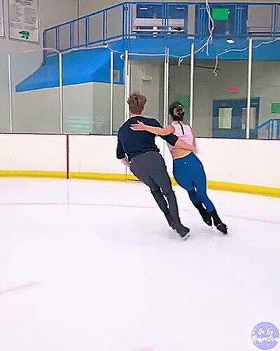 Enlace a Patinadores de hielo entrenando