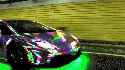 Me recuerda a la senda arco iris de Mario Kart