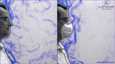Enlace a Comparación de los virus que sueltas con y sin mascarilla