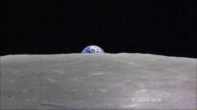 Enlace a Increíble, la Tierra levantándose sobre la luna