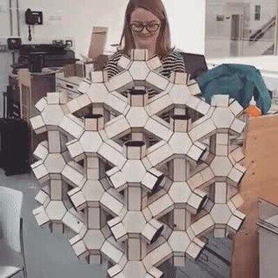 Enlace a Increíble origami en 3D que se pliega