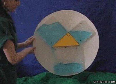 Enlace a El teorema de Pitágoras con líquidos
