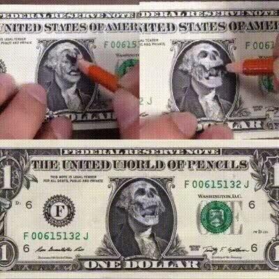 Enlace a Arte con billetes