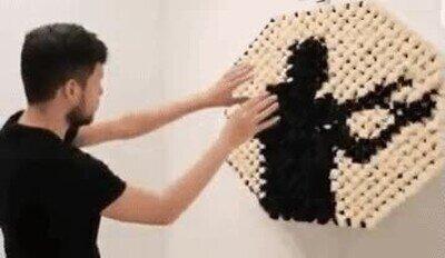 Enlace a Efecto espejo con bolas de algodón
