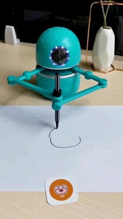 Enlace a Robots que han aprendido a dibujar lo que tienen delante