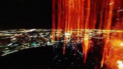 Así se ven los fuegos artificiales desde la cámara de un dron