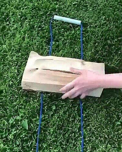 Enlace a Truco para transportar madera sin dejarse las manos en el intento