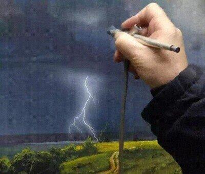 Truco para pintar una tormenta de forma realista