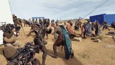 Enlace a Así se graba una pelea en una peli de super héroes