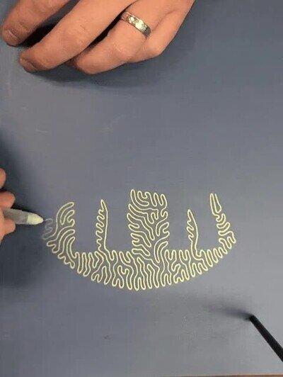 Enlace a Elefante dibujado con una sola línea