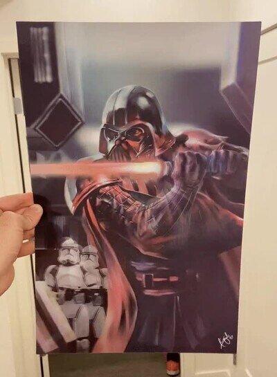 Enlace a Un póster 3D que encantará a los fans de Star Wars