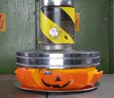 Enlace a A esta prensa hidráulica no le gusta Halloween