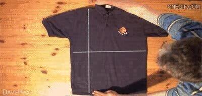 Enlace a Truco para doblar de forma sencilla una camiseta