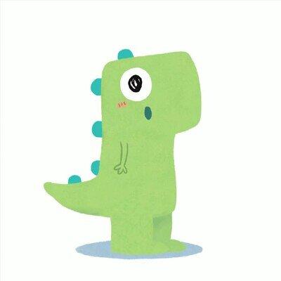 Enlace a Un dinosaurio dispuesto a alegrarte el día