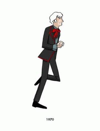Enlace a Doctor Who corriendo a través del tiempo