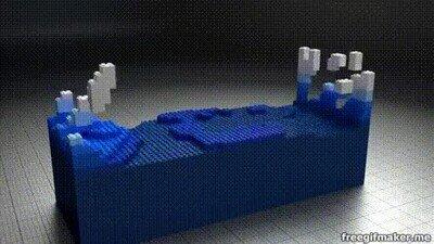 Enlace a Recreando olas con piezas de LEGO