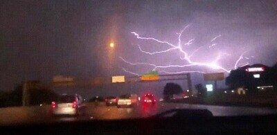 Me daría mucho miedo ver esta tormenta en directo