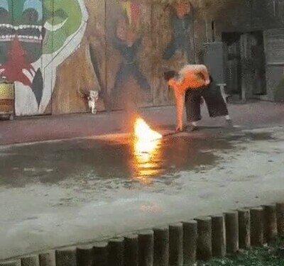 Cuidado cuando juegues con fuego