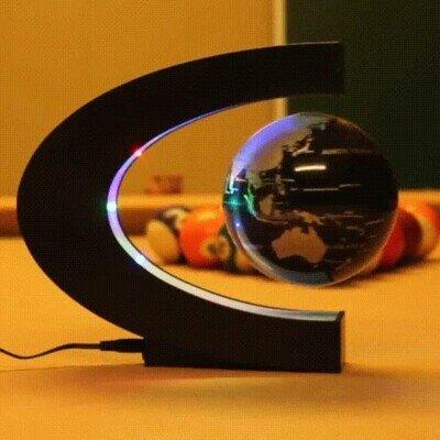 Enlace a Una lámpara con la tierra girando magnéticamente