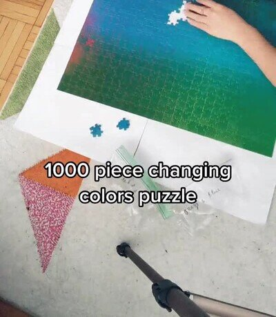 Enlace a Un puzzle de 1000 piezas que cambia de color