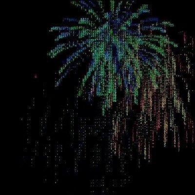 Enlace a Fuegos artificiales en ASCII