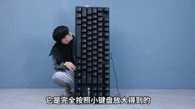 Enlace a Lo que se siente al jugar con un teclado GIGANTE