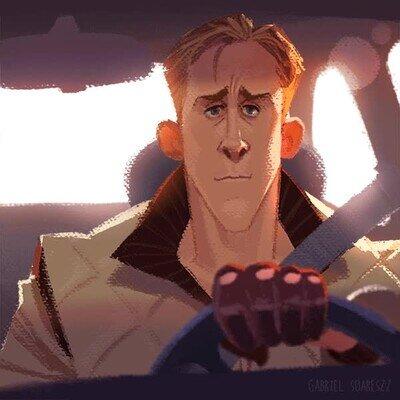 Enlace a Una animación pixelada de Ryan Gosling en Drive