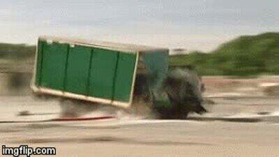 Enlace a Un camión a toda velocidad no puede con un simple palo en el suelo