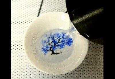 Enlace a Un plato que cambia de color de forma mágica