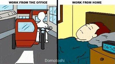 Enlace a Trabajar en la oficina VS Trabajar desde casa