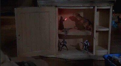 Enlace a Darth Vader contra un dinosaurio es lo más random que verás en todo el día