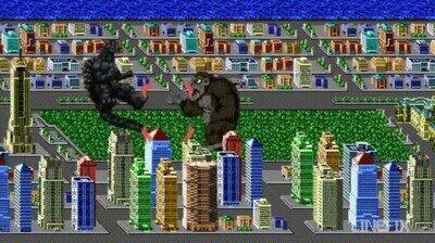 Enlace a Godzilla VS Donkey Kong versión pixelada