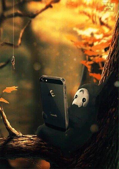 Enlace a Los espíritus del bosque también están enganchados a las redes sociales
