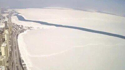Enlace a Parece la Antártida, pero es el lago Michigan: un