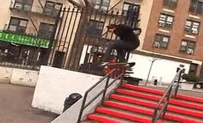 Enlace a Vaya suerte ha tenido este skater...