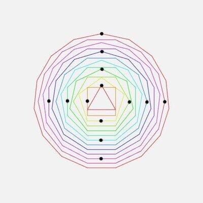 Enlace a Es una pasada ver cómo se mueven los puntos por su líneas geométricas