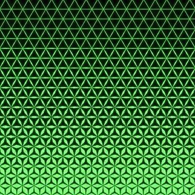 Enlace a Un patrón de triángulos brillantes que se convierten en cubos