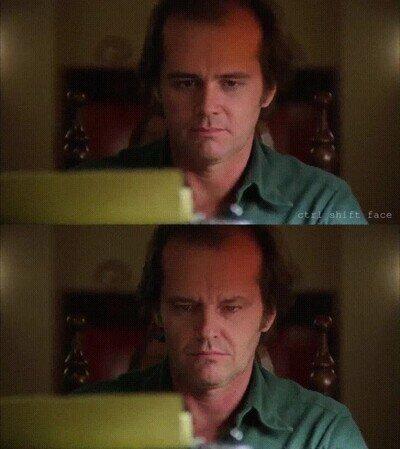 Enlace a Si Jim Carrey hubiese sido el protagonista de El Resplandor
