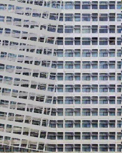 Enlace a Así quitan el plástico de las ventanas de los edificios